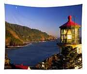 Heceta Head Moonrise Tapestry