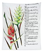 Heliconia Poem Tapestry