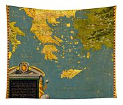 Hellenic Peninsula Greece Albania Bosnia And Bulgaria Tapestry