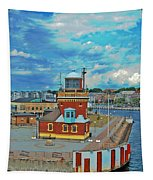 Helsingborg Lighthouse Hdr Tapestry