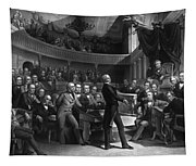 Henry Clay Speaking In The Senate Tapestry