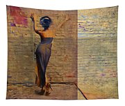 Her Back To The Wall Tapestry