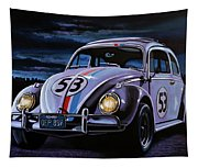 Herbie The Love Bug Painting Tapestry