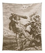 Hercules Fights The Lernian Hydra Tapestry