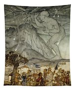 Hercules Supporting The Sky Instead Of Atlas Tapestry