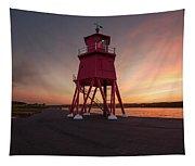 Herd Groyne Lighthouse On The Water S Tapestry