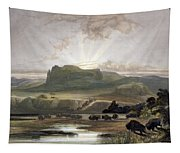 Herd Of Bison On The Upper Missouri Tapestry