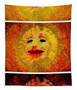 Here Come The Suns Vertical Tapestry