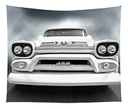 Here Comes The Sun - Gmc 100 Pickup 1958 Black And White Tapestry