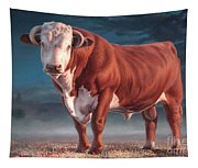 Hereford Bull Tapestry