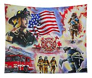 Heroes American Firefighters Tapestry
