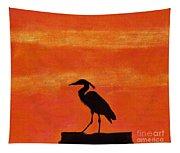 Heron - At - Sunset Tapestry