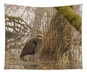 Heron In A Fog Tapestry
