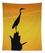 Heron Silhouette Tapestry
