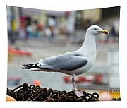 Herring Gull At The Harbour Tapestry