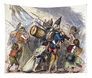 Hessian Mercenaries, 18th C Tapestry