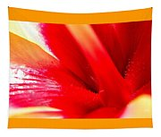 Hibiscus Abstract In Red And Yellow Tapestry