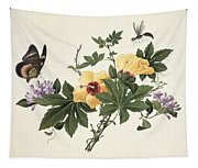 Hibiscus And Butterfly Tapestry