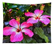 Hibiscus Flowers Tapestry