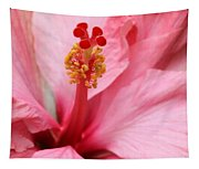 Hibiscus Flower Close Up Tapestry
