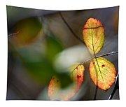 Hidden Forest Leaves Tapestry