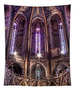 High Altar And Stained Glass Windows  Tapestry