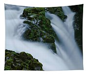 High Angle View Of A Waterfall, Sol Duc Tapestry