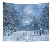 High Peak Mountain Snow Tapestry