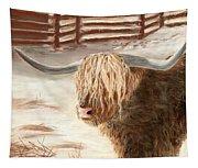 Highland Bull Tapestry