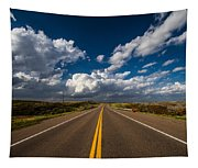 Highway Life - Blue Sky Down The Road In Oklahoma Tapestry