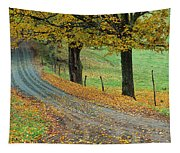 Highway Passing Through A Landscape Tapestry