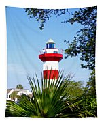 Hilton Head Lighthouse And Palmetto Tapestry
