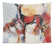 Hinds In Winter Tapestry