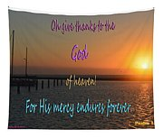 His Mercy Endures Forever Tapestry