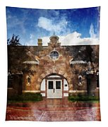 Historic Depot Evanston Wyoming Tapestry