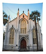 Historic Downtown Church Tapestry