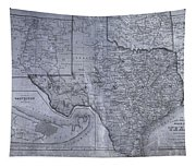 Historic Texas Map Tapestry