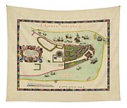 Historical Map Of Manhattan 1661 Tapestry