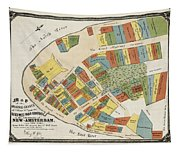 Historical Map Of Manhattan Tapestry