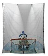 Hockey Goalie In Crease Tapestry