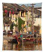 Hoi An Fishing Boat 02 Tapestry
