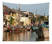 Hoi An Fishing Boats 02 Tapestry