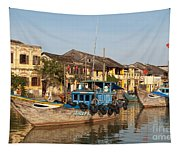 Hoi An Fishing Boats 03 Tapestry