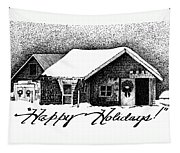 Holiday Barn Tapestry