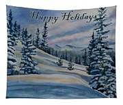 Happy Holidays - Winter Landscape Tapestry