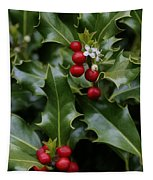 Holiday Holly Tapestry