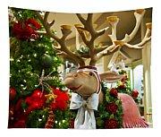 Holiday Reindeer Tapestry