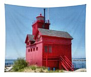 Holland Harbor And Big Red Tapestry