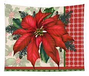 Holly And Berries-h Tapestry