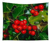 Holly And Berries Tapestry